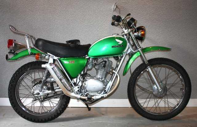 Moto Honda Sl 125 125 Cm3 1975
