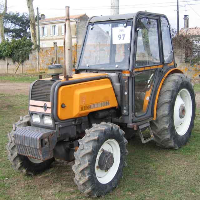 tracteur agricole fruitier renault 7014f 4 rm 4 rm 1990. Black Bedroom Furniture Sets. Home Design Ideas
