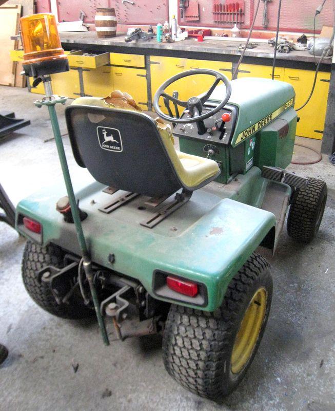Micro tracteur john deere 332 2 rm - Tracteur tondeuse john deere occasion ...