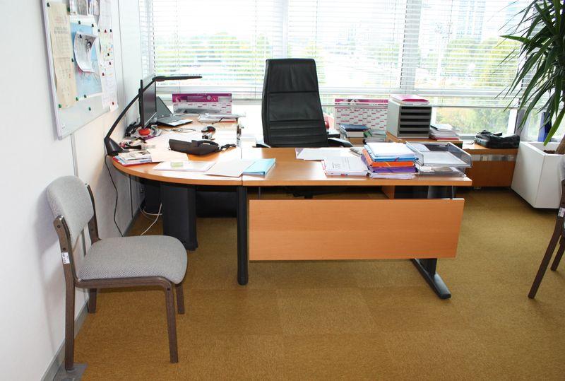 Grand bureau avec retour bureaux avec retour grands caissons