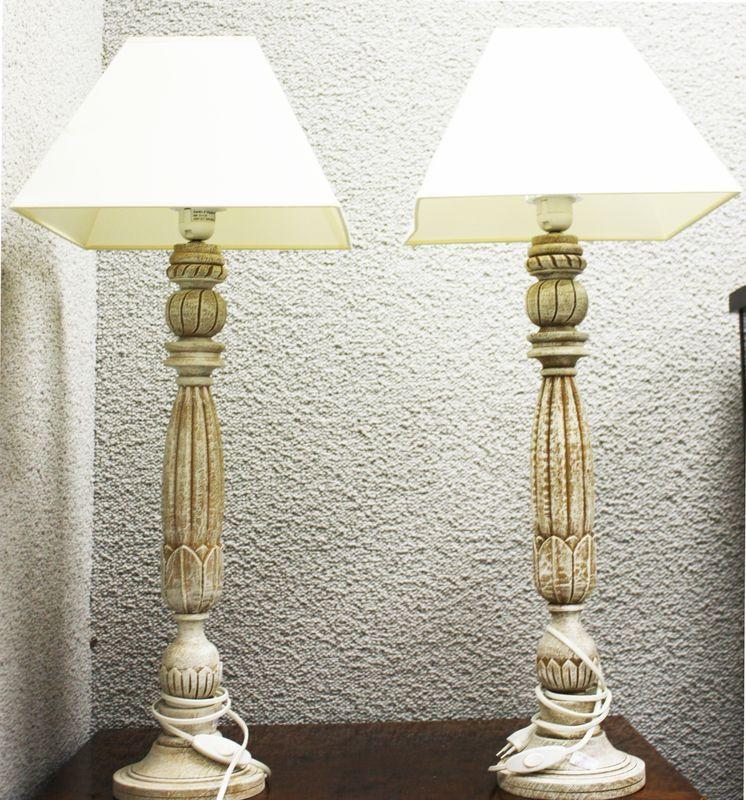 Lampes En Paire Fleur Stylisee Bois Pied De Chevet Forme 8k0wNnOPX