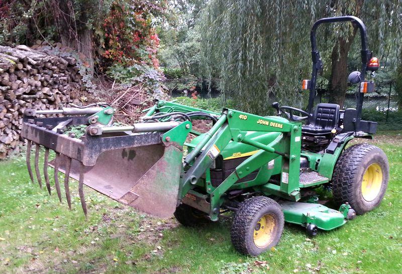 Micro tracteur john deere 4115 4 roues motrices 2002 - Tracteur ancien miniature ...