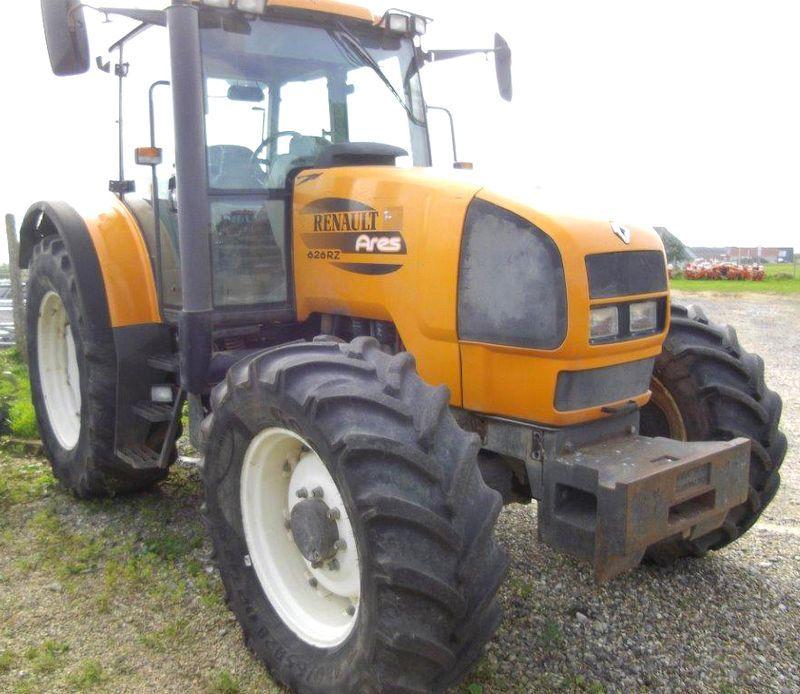 tracteur agricole renault ares 626 rz 4x4 2002. Black Bedroom Furniture Sets. Home Design Ideas