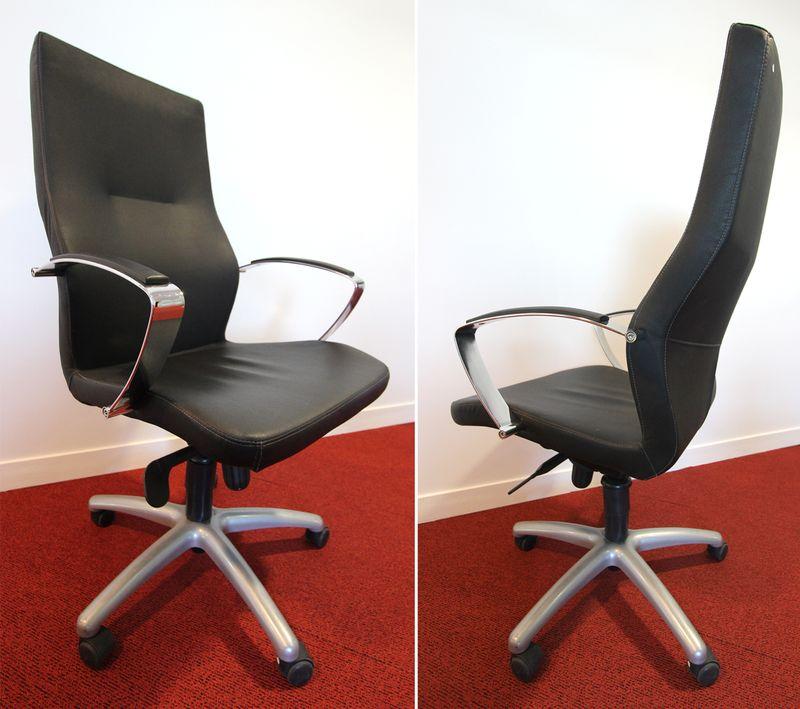 fauteuil de direction simili cuir noir modele theus. Black Bedroom Furniture Sets. Home Design Ideas