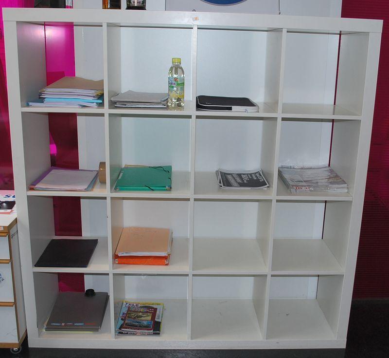 1 etagere de couleur blanche module cube a 25 casiers hauteur 185 cm largeur 185 cm profondeur 39 c. Black Bedroom Furniture Sets. Home Design Ideas