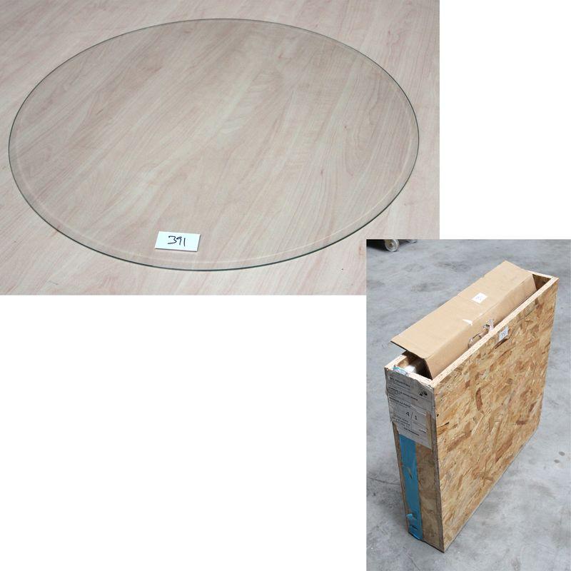 6 plaques en verre biseaute circulaire dans une caisse en bois diametre 593cm on y joint une plaque. Black Bedroom Furniture Sets. Home Design Ideas