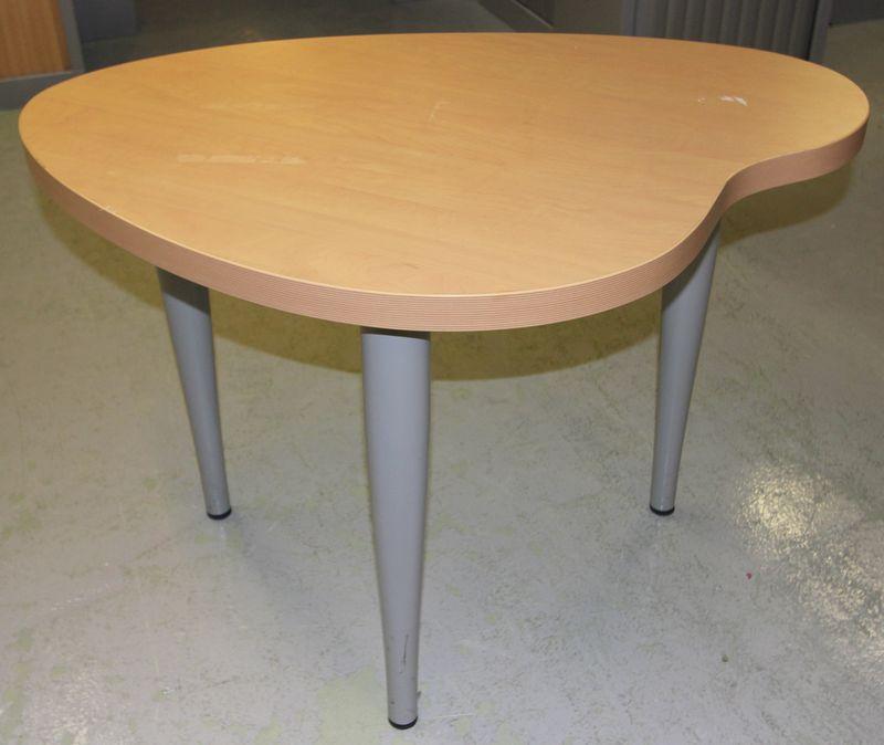 Table desserte de forme palette couleur hetre pied gris metal 98 x 78 cm obse - Palette de couleur gris ...