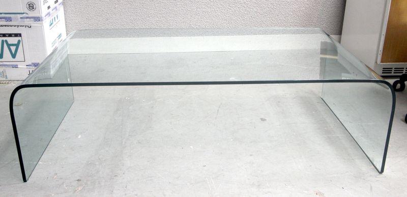 angelo cortesi modele pont table basse en verre courber epaisseur 12 mm hauteur 40 longueur 130 pro. Black Bedroom Furniture Sets. Home Design Ideas
