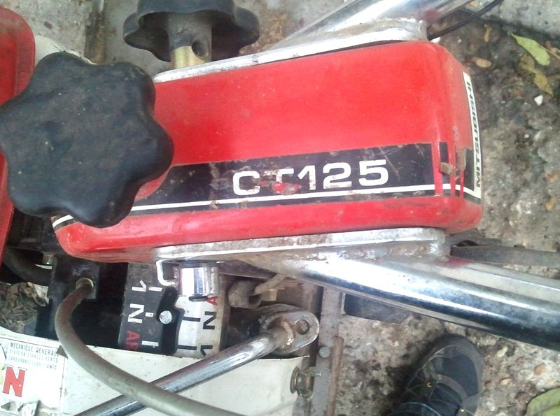 Motoculteur Mitsubishi Ct125