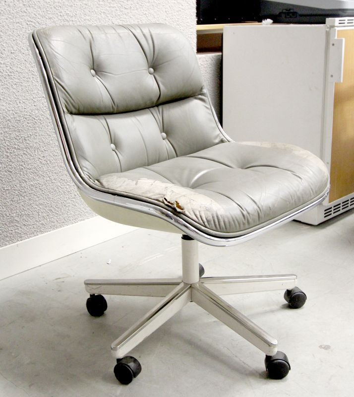 Charles pollock fauteuil de bureau a coque en fibre de verre moule et garnitu - Fauteuil fibre de verre ...