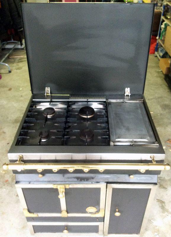 Piano la cornue modele fe 80 2 fours rotisserie plancha - Piano de cuisine la cornue ...
