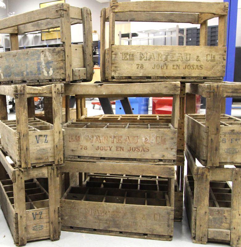 Caisses debut 20eme en bois de transport de bouteilles de for Container reunion prix