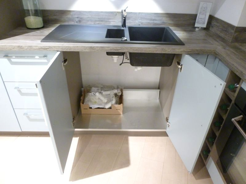 cuisine-schmidt-de-presentation-modele-loft-colori-blue-laque-mat ... - Evier Cuisine Schmidt