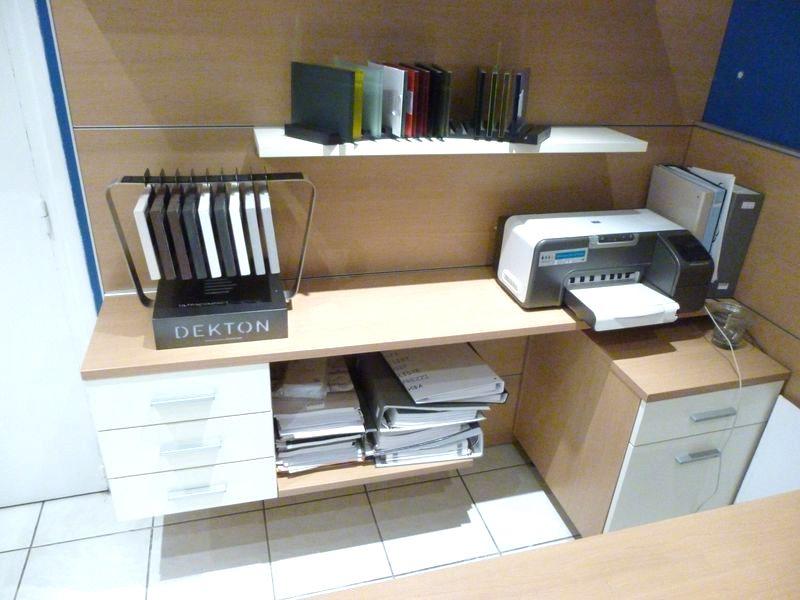 ensemble mobilier pour bureau schmidt modele apagio couleur bois clair bloc 3 tiroirs caissons 2 ti. Black Bedroom Furniture Sets. Home Design Ideas