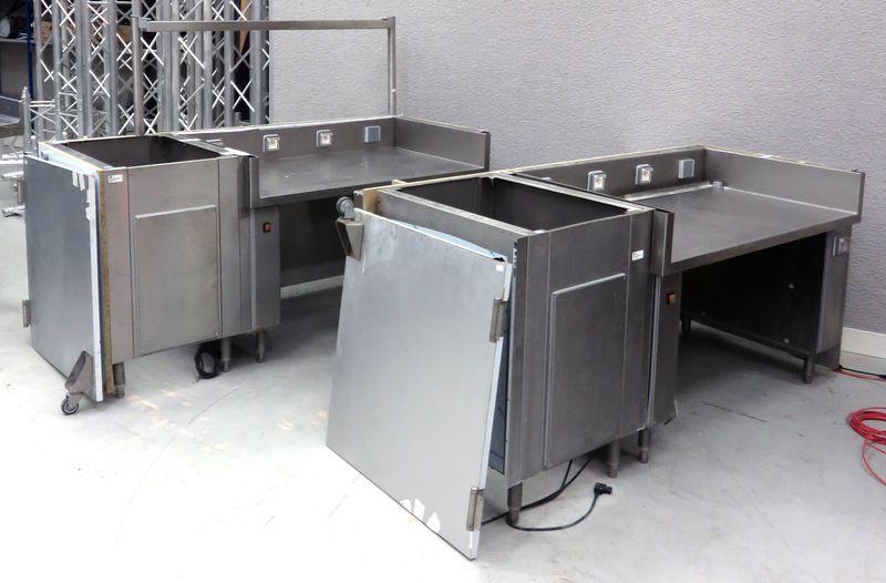 Lot de mobilier de cuisine en inox alimentaire dim hauteur for Mobilier de cuisine inox
