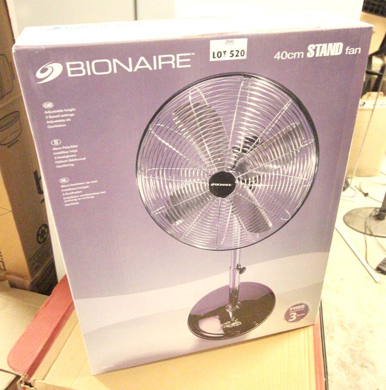 ventilateur electrique sur pied de marque bionaire neuf dans son carton dorigine hauteur 40 cm 2 lo. Black Bedroom Furniture Sets. Home Design Ideas