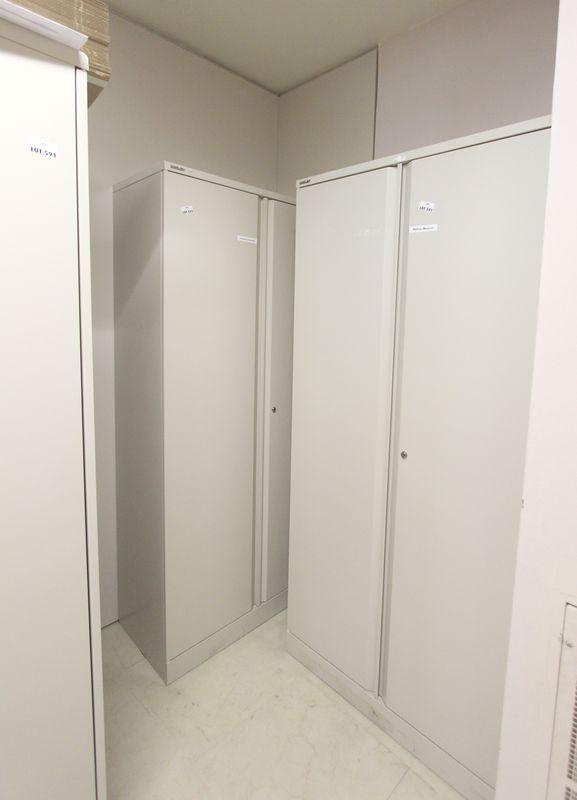 5 armoires metalliques deux portes de marque bisley hauteur 198 largeur 91 profondeur 45 cm 3e etag. Black Bedroom Furniture Sets. Home Design Ideas