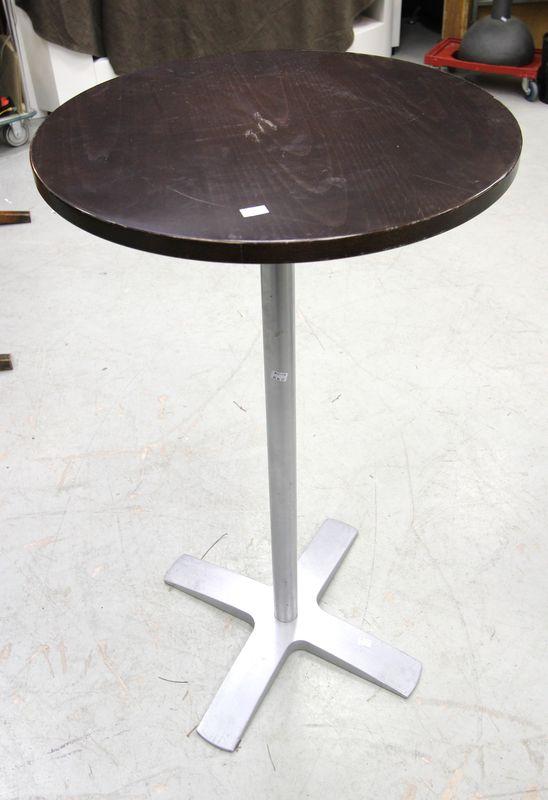 Mange debout a plateau circulaire en bois pietement en metal diam 160 hauteur 110 cm vendu a lunite - Mange debout bois metal ...