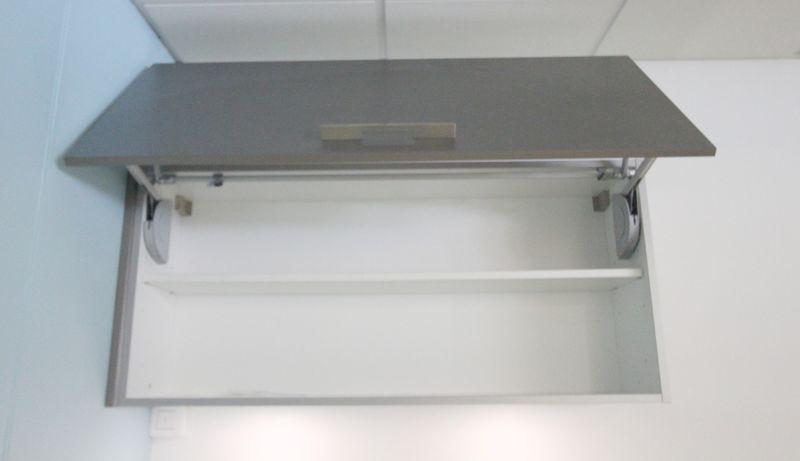 mobilier de cuisine en stratifie effet alu brosse compose d1 placard haut ouverture frontale 1 plac. Black Bedroom Furniture Sets. Home Design Ideas