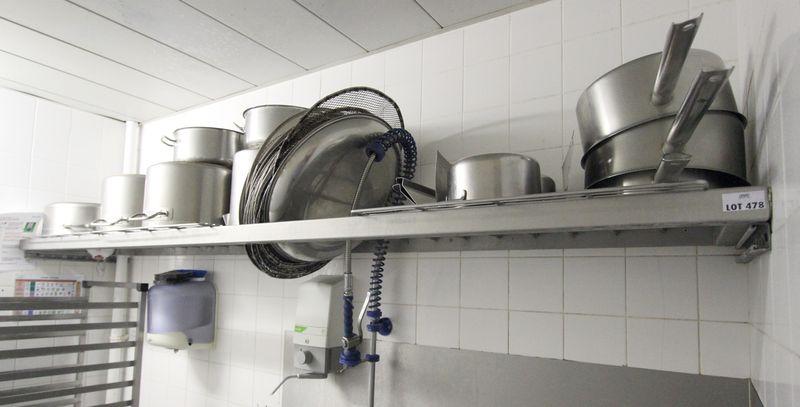 etagere egouttoir en inox alimentaire dim 5 x 270 x 50 cm restaurant j1. Black Bedroom Furniture Sets. Home Design Ideas