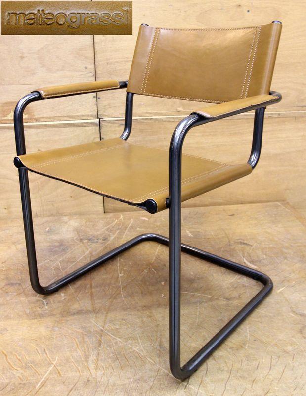 Chaise s33 par mart stam edition matteo grassi chaise en porte a faux en acie - Chaise en cuir a vendre ...