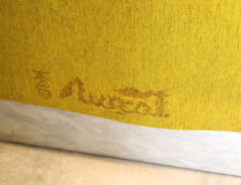 jean lurcat 1892 1966 tapisserie sur fond ocre jaune etoile anime dun soleil rayonnant a division t. Black Bedroom Furniture Sets. Home Design Ideas