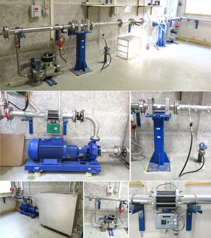 Banc Dessai Hydraulique Comprenant Canalisations En Inox Support De