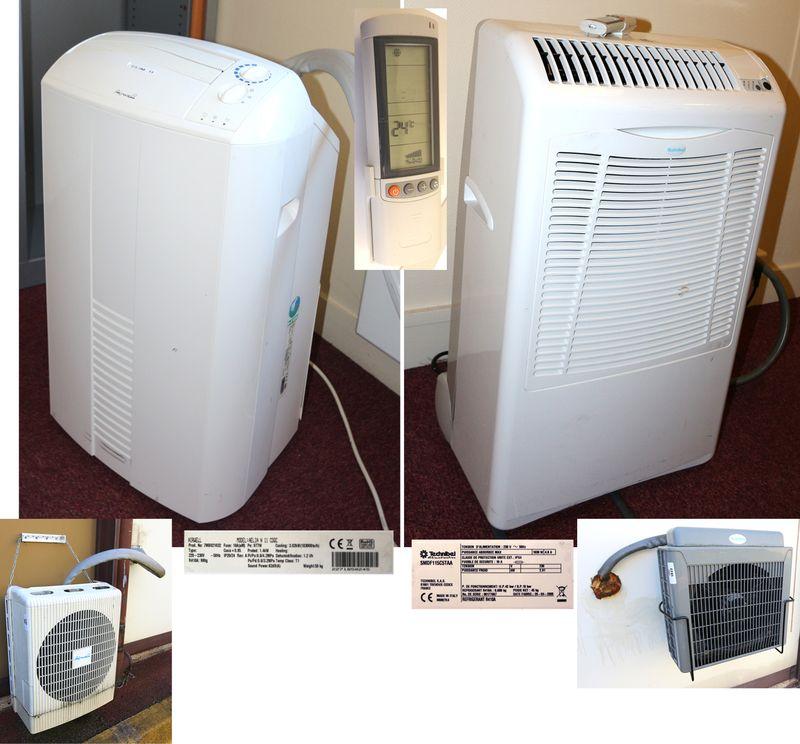 lot 1822 5 unites climatiseurs mobiles de marque airwell. Black Bedroom Furniture Sets. Home Design Ideas