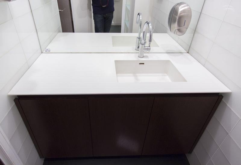 Meuble Salle De Bain Un Vasque Avec 2 Mitigeurs : Meuble de salle bain une vasque avec plateau en coriant