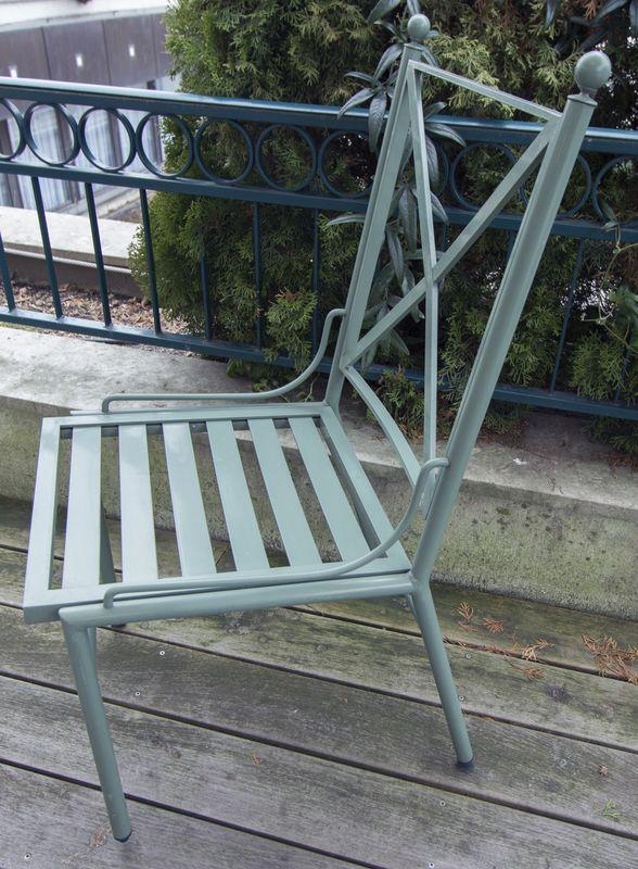 ensemble de mobilier de jardin de marque hugonet paris modele victoria structure en profile alumini