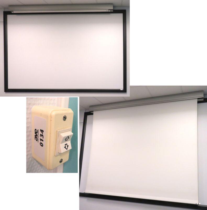 ecran de projection electrique de marque ulmann dimensions 235 cm on y joint une toile tendue de pr. Black Bedroom Furniture Sets. Home Design Ideas
