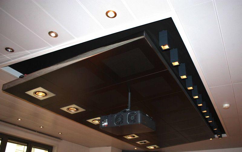 faux plafond dessine par michel boyer architecte dinterieur designer 1935 2011 en metal poli noir c. Black Bedroom Furniture Sets. Home Design Ideas