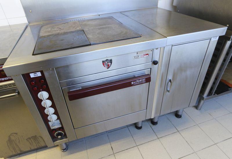 Piano de cuisson electrique de marque paul charvet modele 850e4pl comprenant - Piano cuisine electrique ...