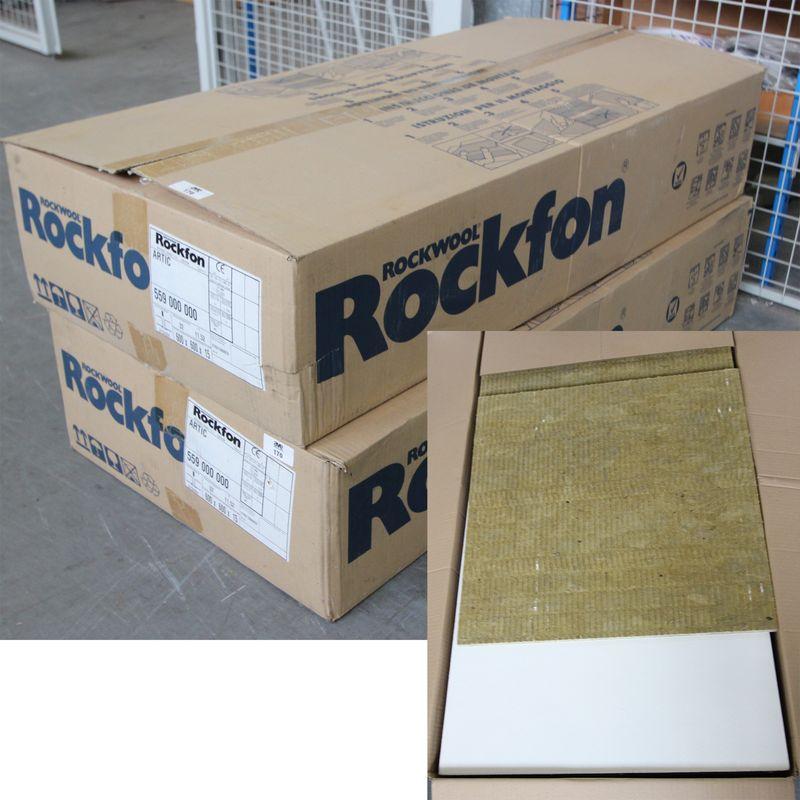 2 Cartons De Dalles De Faux Plafond De Marque Rockfon Couleur Artic