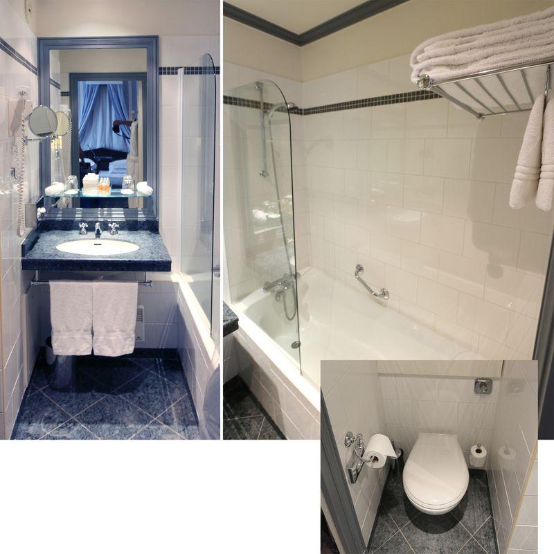 Mobilier de salle de bain comprenant mitigeur thermostatique pommeau et suppo - Mobilier salle de bains ...