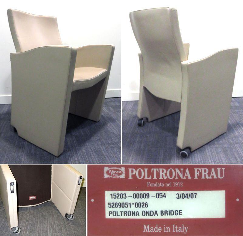 lot 14 1 unite fauteuils de marque poltrona frau modele. Black Bedroom Furniture Sets. Home Design Ideas