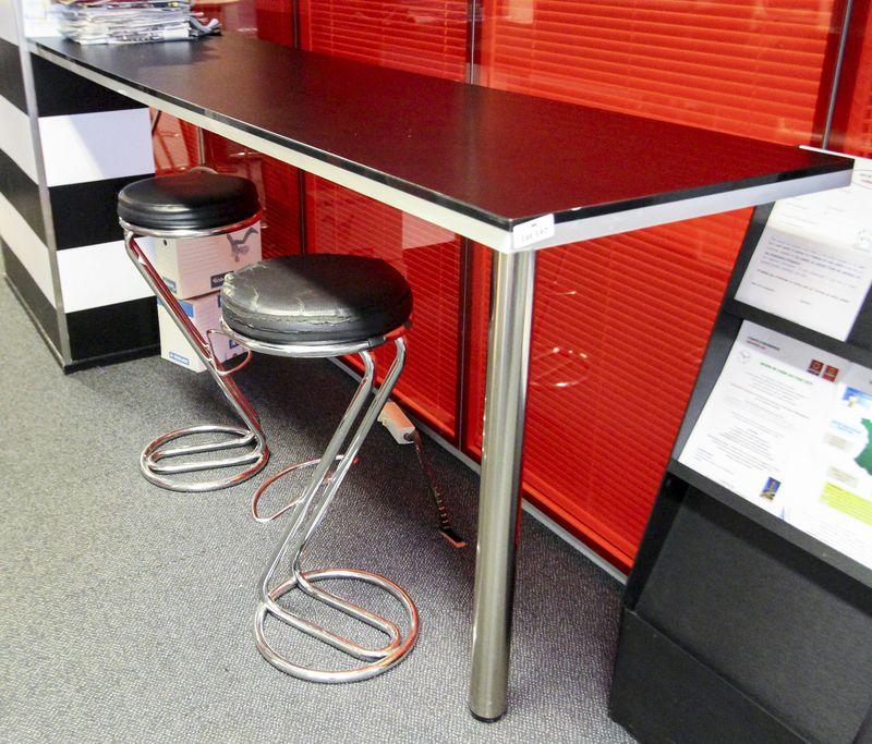 plan de travail en bois stratifie placage noir dimensions epaisseur 40 mm longueur 240 cm largeur 6. Black Bedroom Furniture Sets. Home Design Ideas
