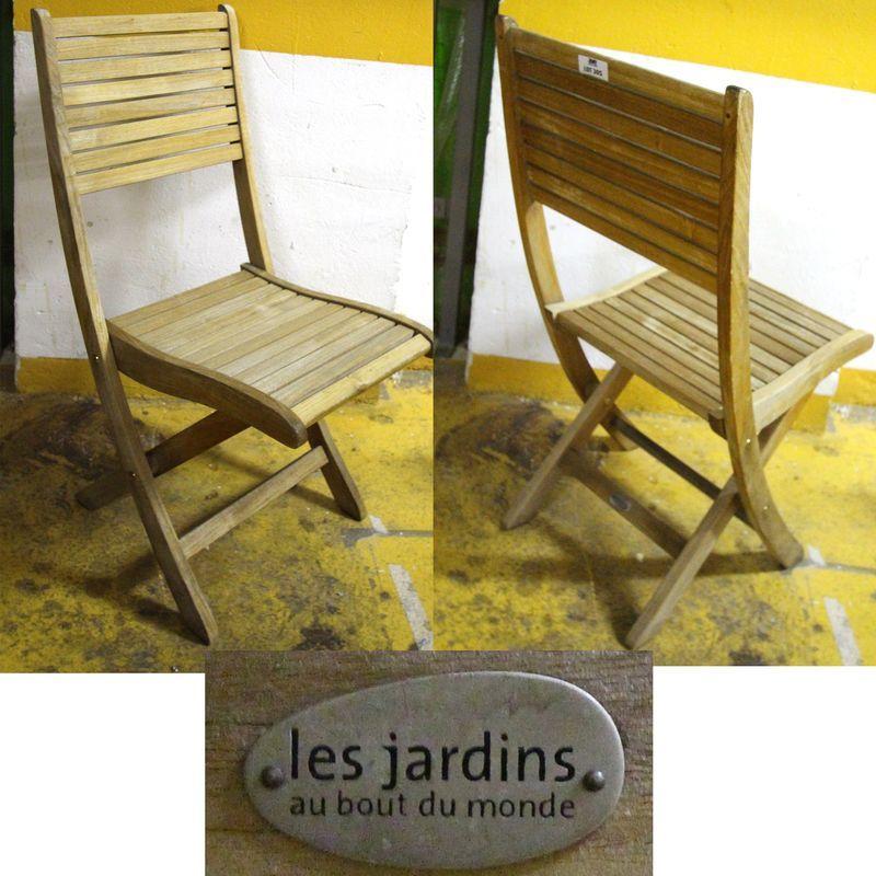 1 Unites Chaise Pliante De Jardin En Bois Naturel De Marque