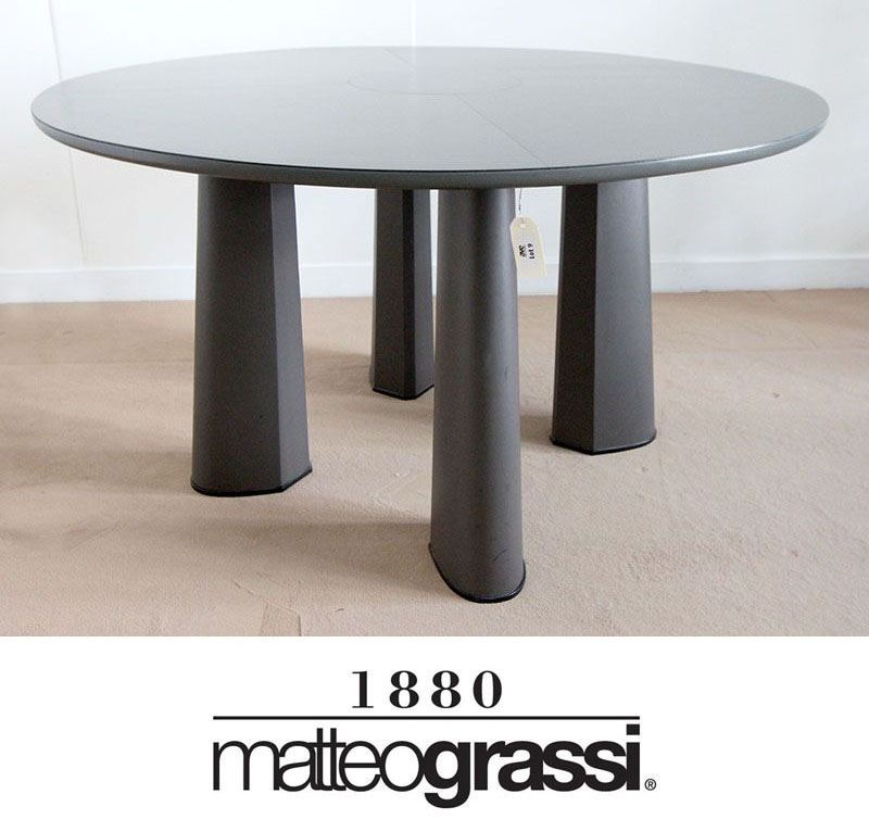 table-ronde-edition-matteo-grassi-modele-metron-entierement-gainee ...
