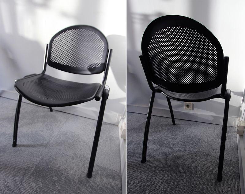 Noir Iron De Talin Chaise Modele En Et Dossier Metal Marque Mat oWrQCdxBe