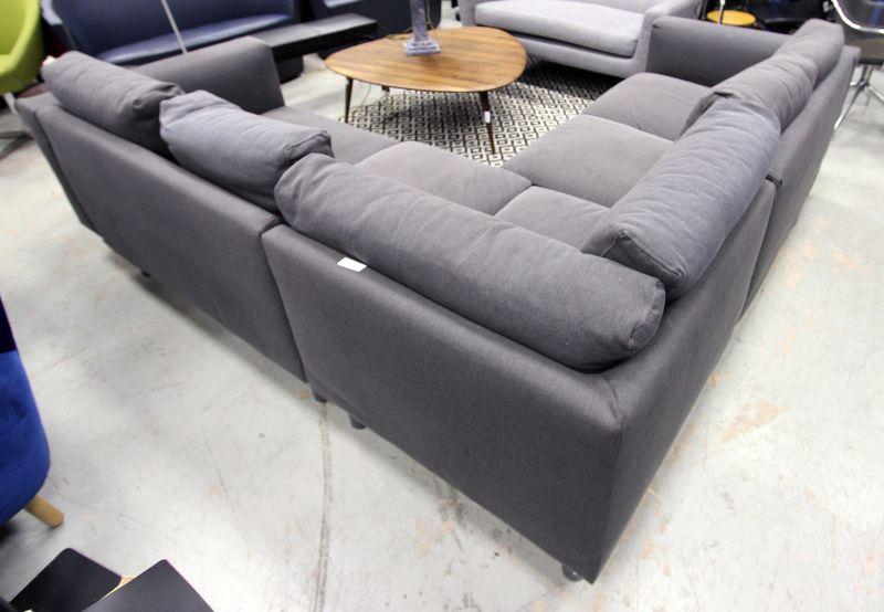 Canape Dangle Edition Ikea A Garniture De Tissus Bleu Gris