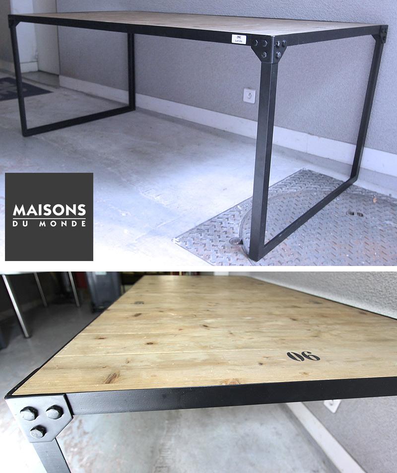 2 Unites Table A Diner 6 Places De Marque Maison Du Monde Modele Docks Plateau En Sapin Numerotant